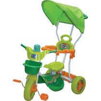 Triciclo Infantil Bebe Direccional Con Toldo Chifle Oferta!!