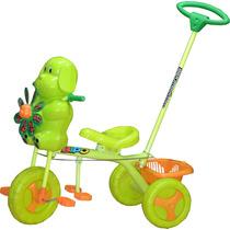 Triciclo Infantil Bebe Barra Direccional Apoya Pies Pedales