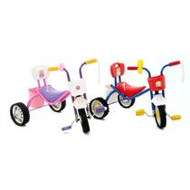 Triciclo A Pedal Ruedas Goma Llantas Chapa Navidad Reyes