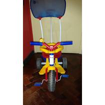 Triciclo De Paseo Con Barra Direccional,aro Y Techito Rondi