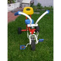 Triciclo Infantil A Pedal Nene Nena Caño Ref. Con Respaldo