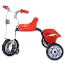 Triciclo Infantil A Pedal Niño/a Ruedas Metal Y Goma Canasto