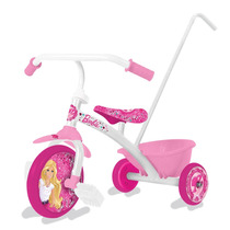 Triciclo Infantil Little Barbie. Con Manija Y Baul