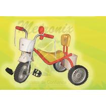 Espectacular Triciclo De Caño Ruedas De Chapa Y Goma