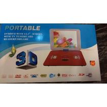 Dvd Portatil 14.1 Gigante 300 Juegos Joystick 12v Auto 360º