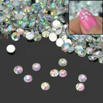 500 Aurora Boreal Cristal De Alto Brillo 2mm , Nail Art !