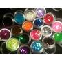 Glitter Cola De Sirena P/uñas Nail Art. Pack X 6 Unidades