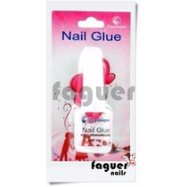 Pegamento Con Pincel P/ Tips O Deco Nail Art X10grs. Faguer