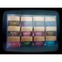 Gel Uv Color X12 Con Glitter Uñas Gelificadas Nail Art