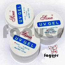 3 Geles Uv Lina (clear - White - Pink) Uñas Gelificadas