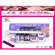 Kit Gel Uñas Uv Gelificadas Prefesional Incial S335