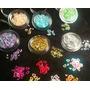 Apliques Plasticos Diseño Corazon Hueco Nail Art. Pack X 3