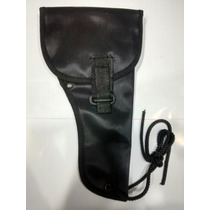 Pistolera Nylon Negra Derecha Policia 9mm O 45