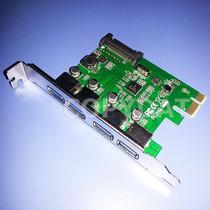 Placa Adaptadora Pci Express C/ 4 Puertos Usb 3.0 Chip Nec