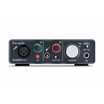 Focusrite Scarlett Solo Usb 2.0 Asio Interface Audio