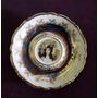Antiguo Plato Decorativo De Porcelana Nacional