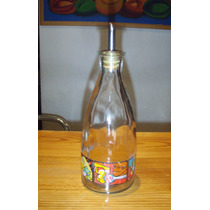 Vinagrera O Aceitera De Vidrio Con Pico Vintage