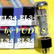 Válvula Electrónica, Vacuum Tube El34 /6ca7 Mullard (par)