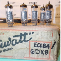 Lote 4 Valvulas Electronicas Ecl84 6dx8 Nos Nib Miniwat