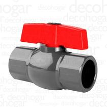 Válvula Esférica Agua Riego Plastica De Pvc 4