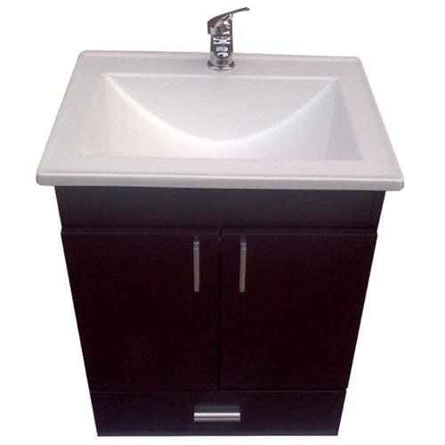 Bachas Para Baño Pintadas:Vanitory Cerrado Colgar Laqueado 50 + Bacha Recta Maral Baño – $ 1