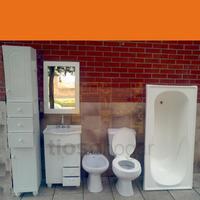 Juego De Baño Sanitarios Vanitory Accesorios Griferia Espejo