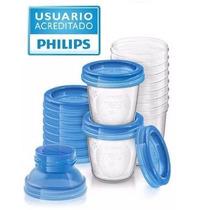 Philips Avent Set Vasos Almacienamento Leche Y Papilla 10un.