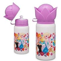 Termo / Botella Aluminio Frozen Elsa Y Anna Disney Store