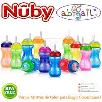 Vaso Flex Straw Antiderrame Nuby +12m Factura Garantia