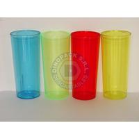 Vaso Trago Largo Plastico Rigido Colores Varios X 25un.