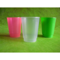 Vaso Plastico Flexible Irrompible Colores 250cc Cumpleaños
