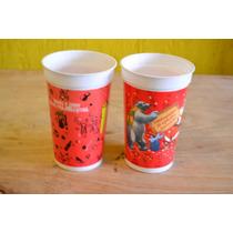 Lote 2 Vasos Plastico Gaseosa Coca Cola