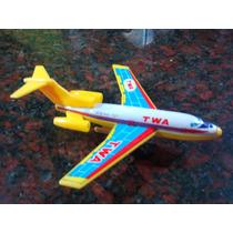 Avion Hojalata Chapa Japones Decada Del ´70