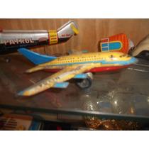 Antiguo Juguete A Friccion Avion