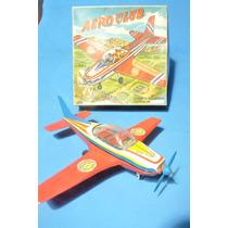 Avioneta Vispa Halcon Aero Club Lata Litografiada Plastico
