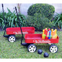 Juguete Wagon On Wheels Carrito De Arrastre Metálico Oferta