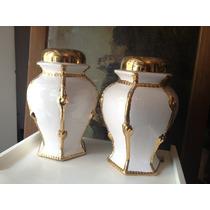 Par De Veladores De Ceramica