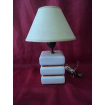 Oferta Velador Lámpara En Cerámica Color Blanca (292f)
