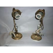 Veladores Antiguos De Bronce