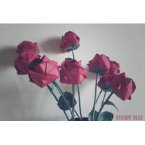 15 Rosas Origami Deco, Ceremonia De Velas - Hermosa Original