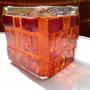 Fanal De Vidrio Con Venecitas Vitreas. Cubos, Luz, Colores