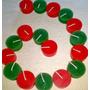 Velitas De Noche 100% Paraf. Color Rojo Y Verde X 100 U