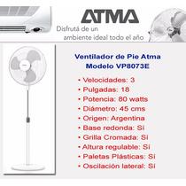 Ventilador De Pie 20 Pulgadas Atma Vp8073e
