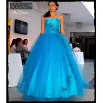 Vestido De 15 Realizado A Medida Y En Color A Eleccion!!!!