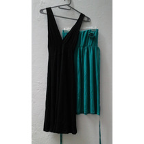 2x1 Vestido Tipo Solera Strapless Talle M