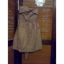 Hermoso Vestido De Noche Strapless - Brocato