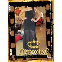 Vestido Straples Largo Negro Corte Sirena