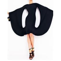Elegante Vestido De Diseño Con Mangas Murciélago