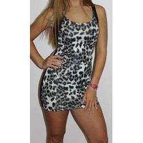 Vestido Frente Animal Print, Espalda Modal C/ Lycra