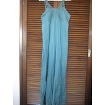 Vestido Largo Importado De India M 100% Algodón